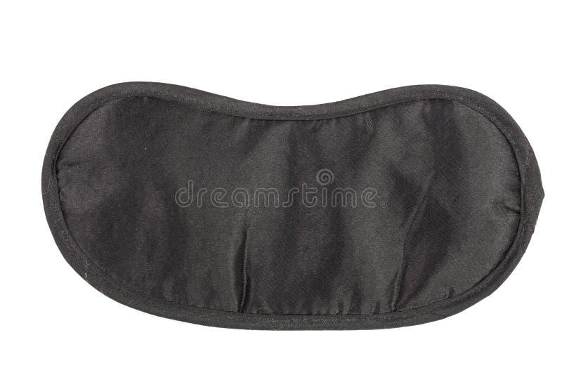 Black sleeping mask isolated on white background.  royalty free stock image