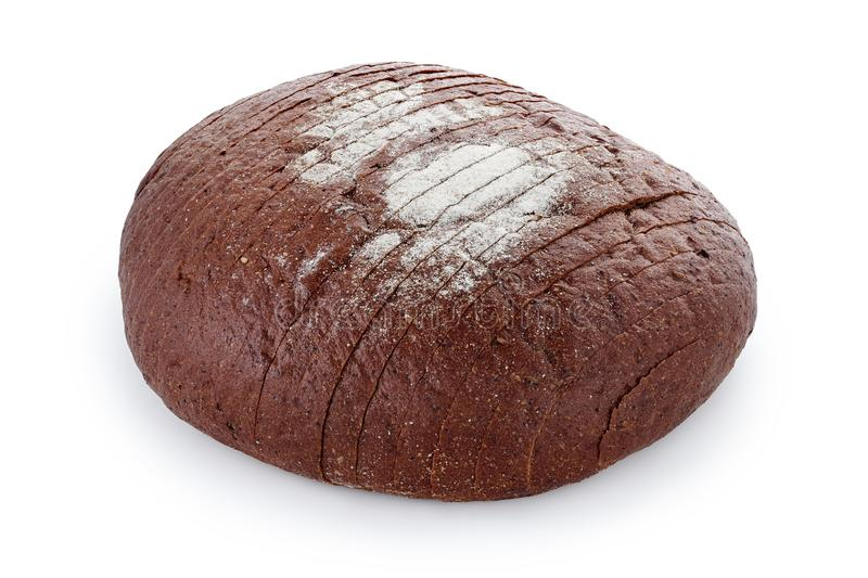 Black sliced bread close-up on a white background white background isolated stock photo