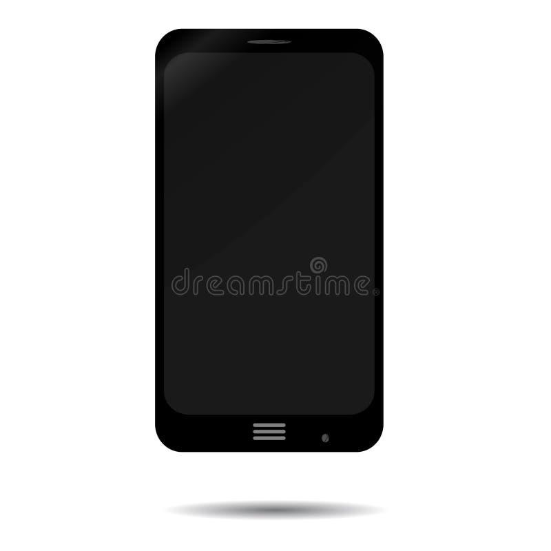 Black smartphone isolated. Smart phone, mobile phone vector, smartphone isolated illustration vector illustration
