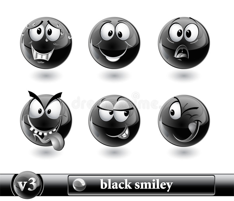 Download Black smiley. vol3 stock vector. Image of communication - 7102731