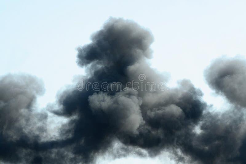 Black smoke stock photography