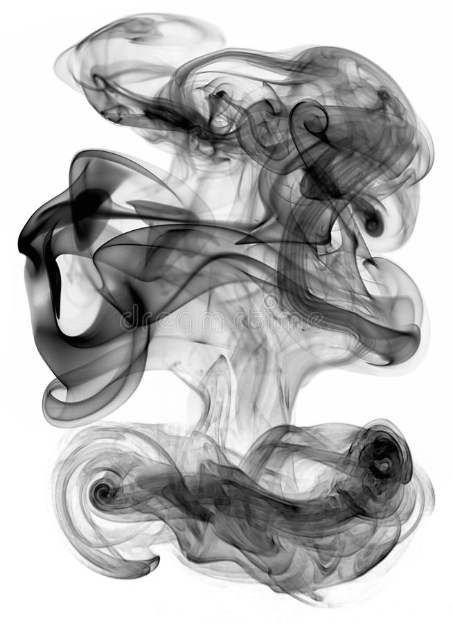 Black smoke background for art design, pattern royalty free stock photography