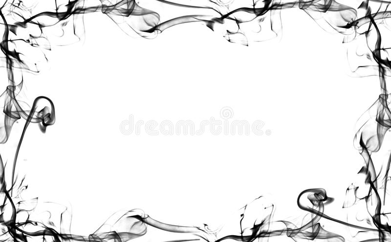 Black smoke frame royalty free illustration