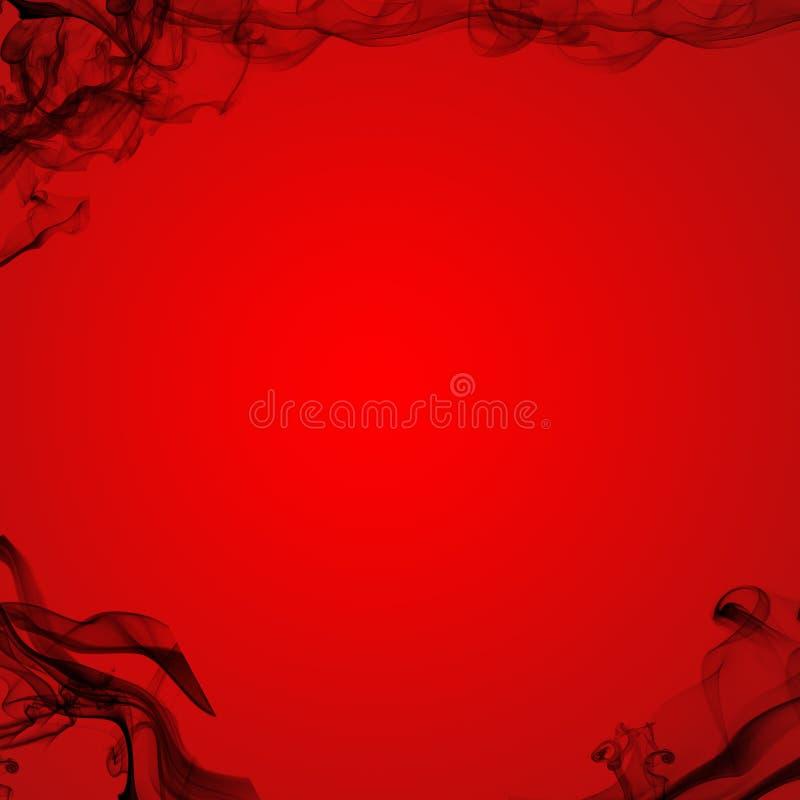 Black Smoke Red Background stock illustration