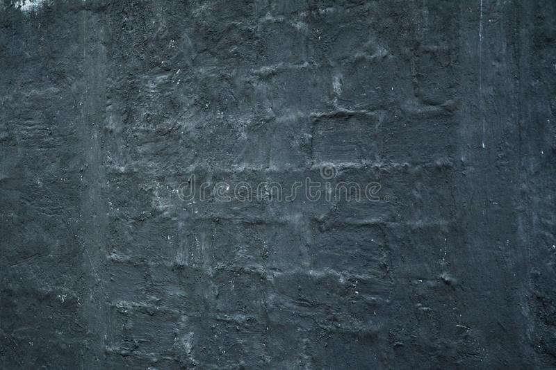 Black smooth wall texture stock photography