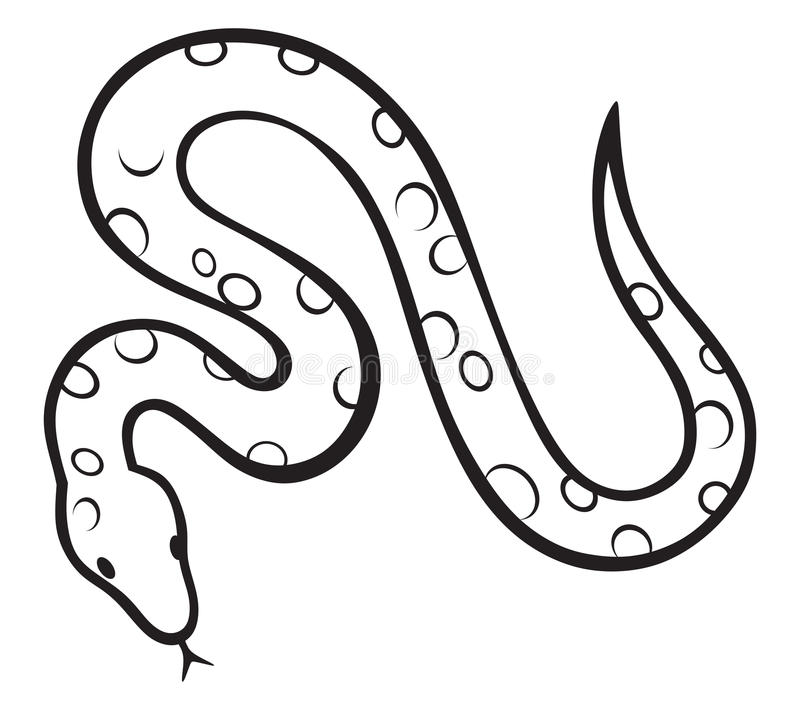 Black Snake Royalty Free Stock Images