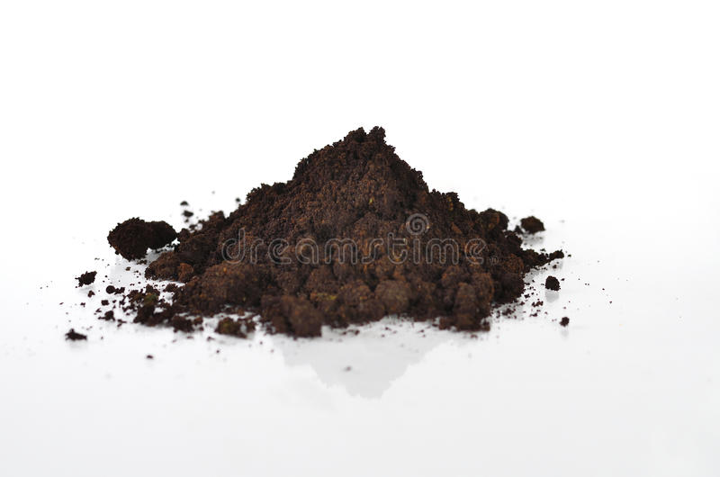 Black soil with compost. Close up black soil with compost royalty free stock photos