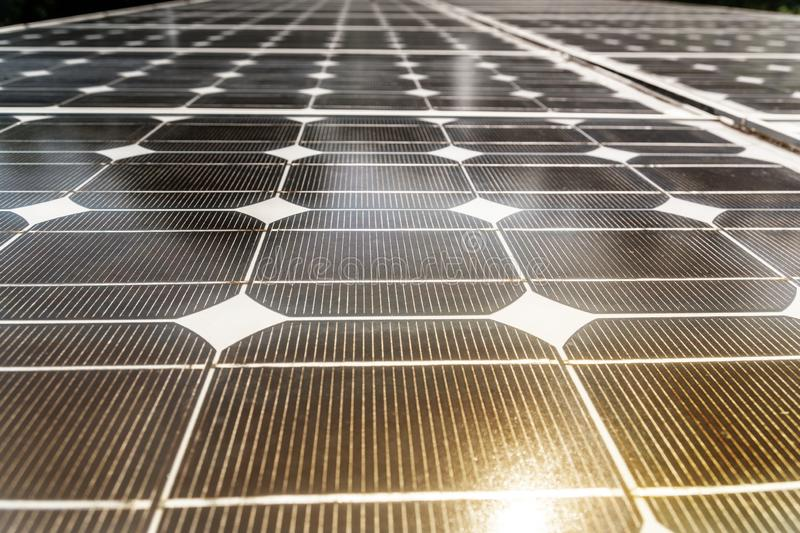 Black Solar Cell Texture Background. Concept of modern solar energy royalty free stock images