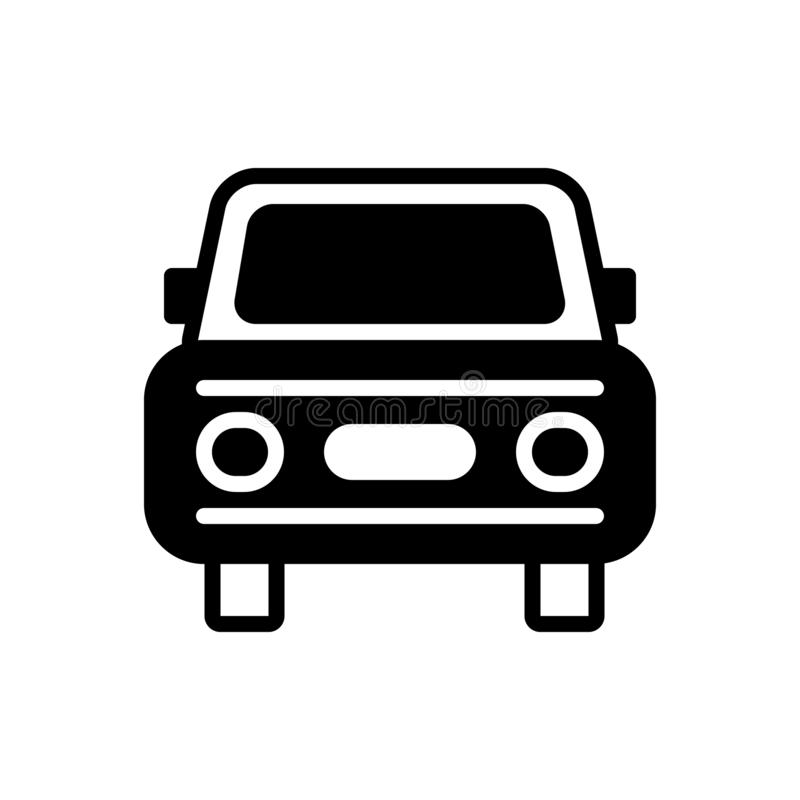 Black solid icon for Auto, car,  vehicle and conveyance. Black solid icon for Auto, carriage, car, miscellaneous, logo,  vehicle and conveyance stock illustration
