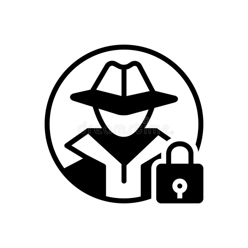 Free Black Solid Icon For Anti Theft, Protection And Hacker Royalty Free Stock Photos - 148484558