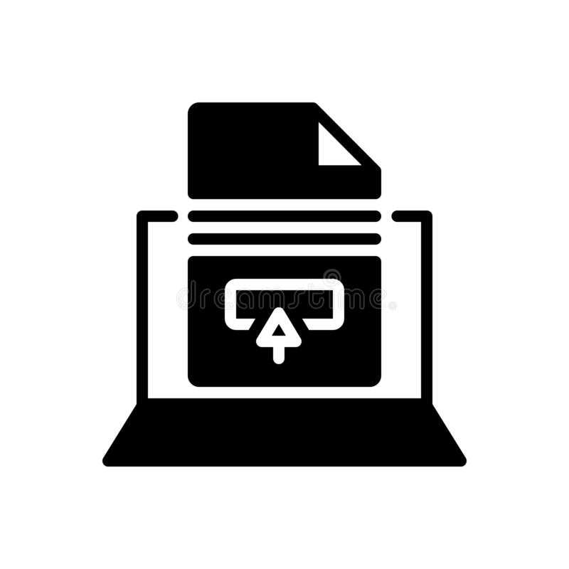 Free Black Solid Icon For Apply, Enforce And Submit Royalty Free Stock Photo - 150190295