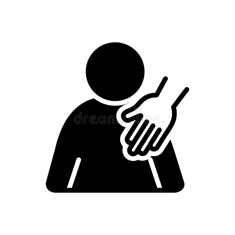 Black solid icon for Sexual harassment, abuse and hostile. Black solid icon for Sexual harassment, logo, sexual, harassment, miscellaneous,   abuse and hostile vector illustration