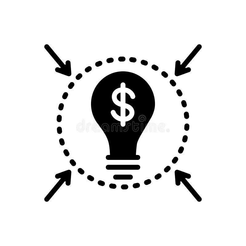 Black solid icon for Solution, determination and resolution. Black solid icon for Solution, innovation, smart, business,  determination and resolution vector illustration