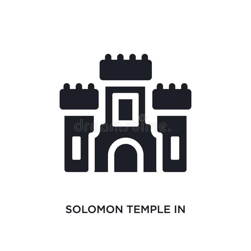 black solomon temple in jerusalem isolated vector icon. simple element illustration from religion concept vector icons. solomon vector illustration