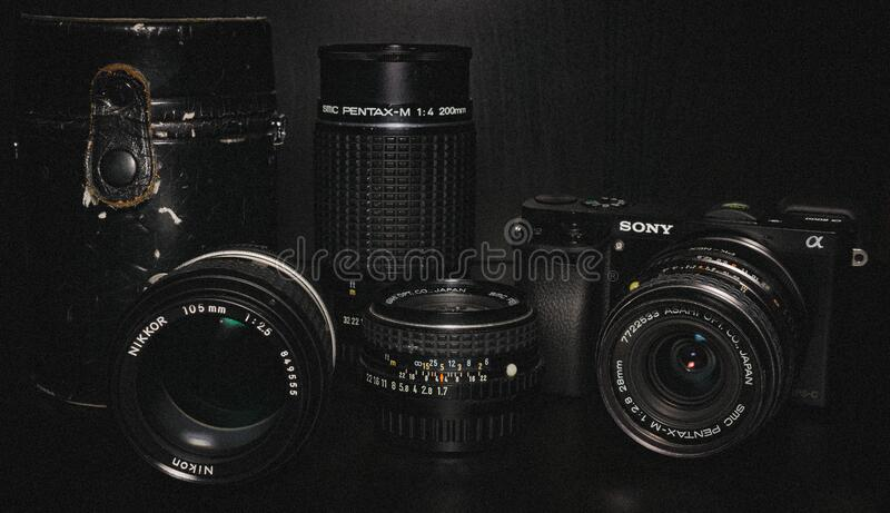 Black Sony Dslr Camera And Lens Free Public Domain Cc0 Image