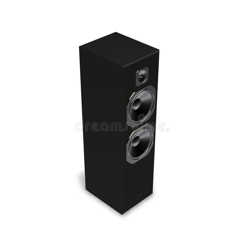 Black Speaker Stock Photo