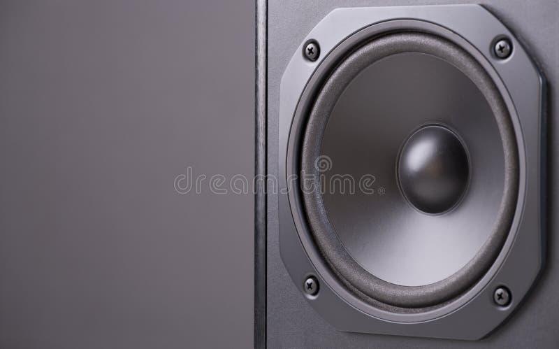Black speaker. Close-up view of black speaker royalty free stock image