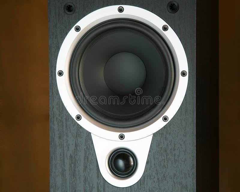Black speaker system. Close-up stock photos