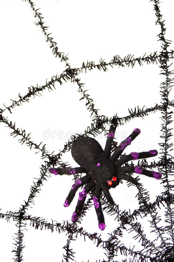 Download Black spiderweb stock photo. Image of crawly, seasonal - 6375354