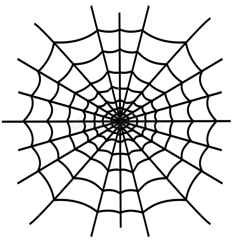 Download Black spiderweb isolated stock vector. Image of cobweb - 20332417