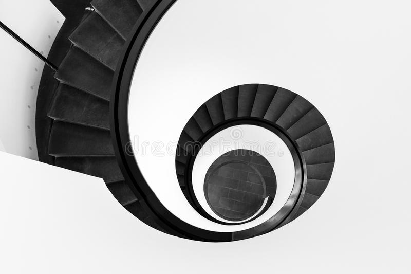 Black Spiral Staircase royalty free stock image