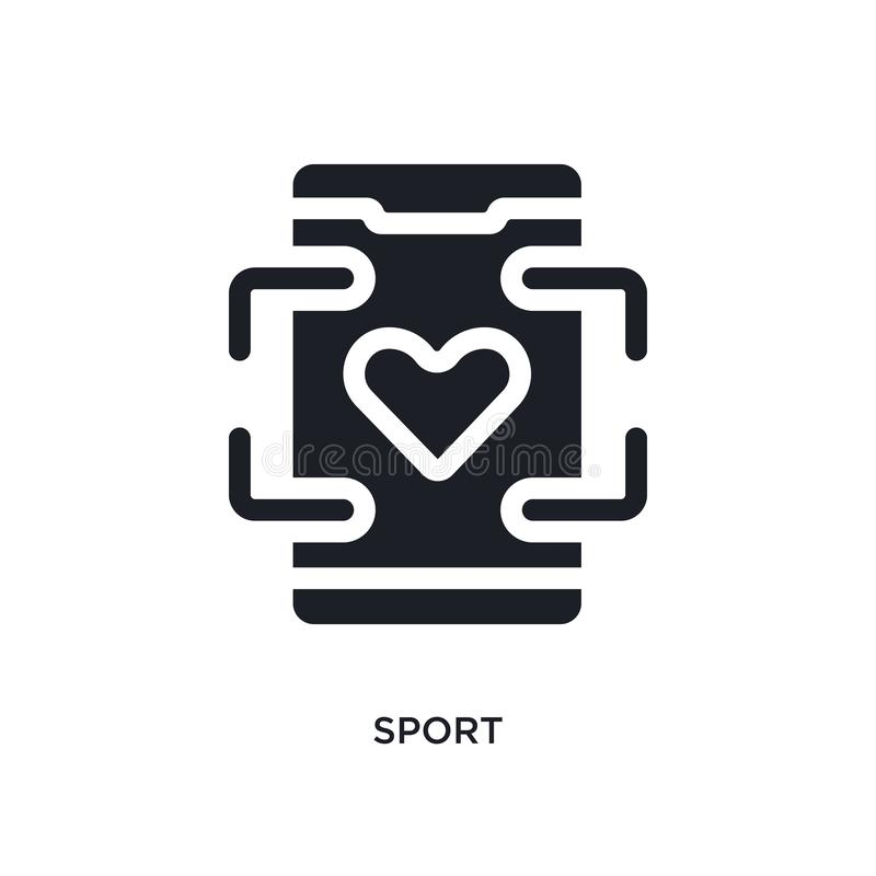 black sport isolated vector icon. simple element illustration from mobile app concept vector icons. sport editable logo symbol royalty free illustration