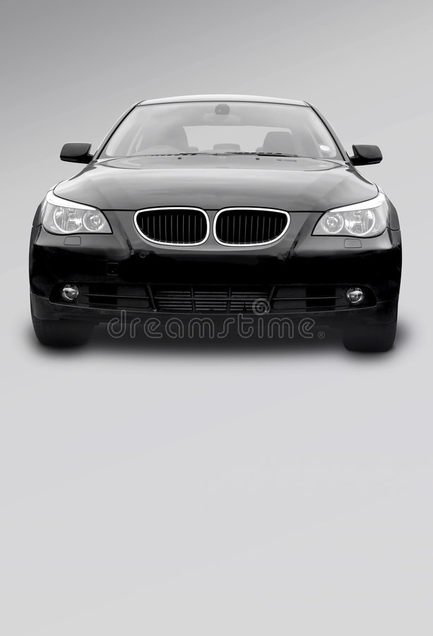 Black sports car royalty free stock images