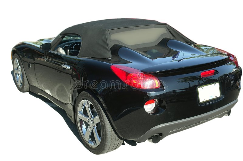 Black Sports Car Isolated royalty free stock photo