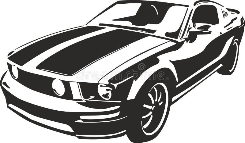 Black sports car. Vector ilustration suitable for cutter plotter vector illustration