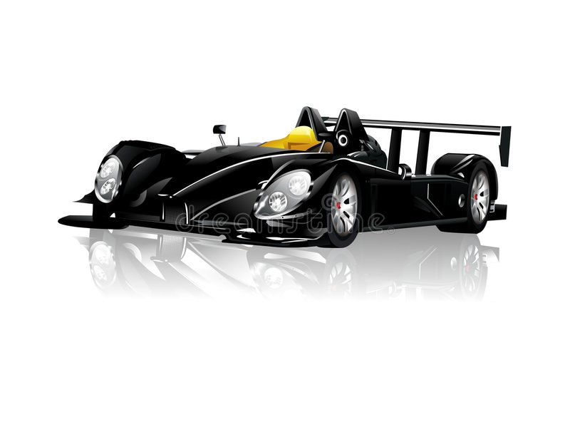 Black Spyder Sport Car royalty free illustration