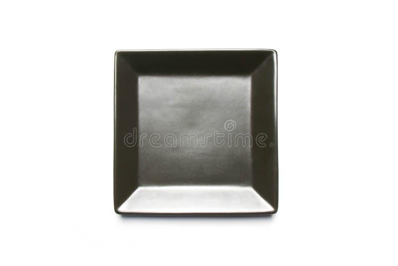 Black square dish royalty free stock photos