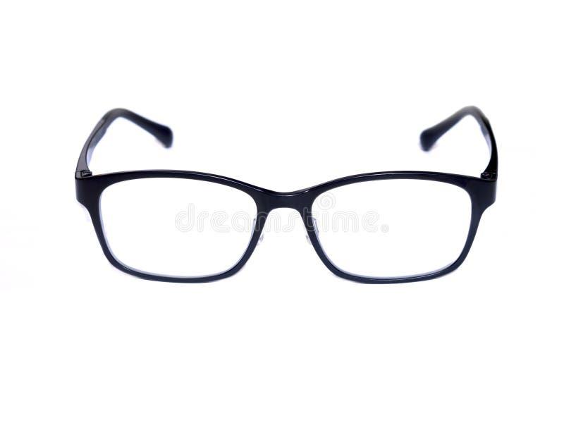 Black square eye glasses isolated on white background. stock photo