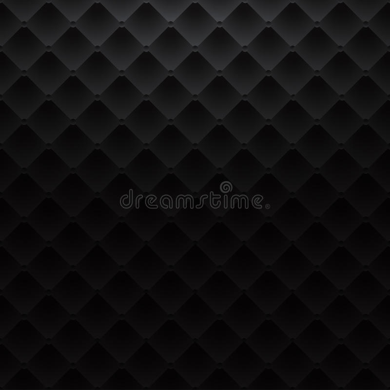 Black square luxury pattern sofa texture background royalty free illustration