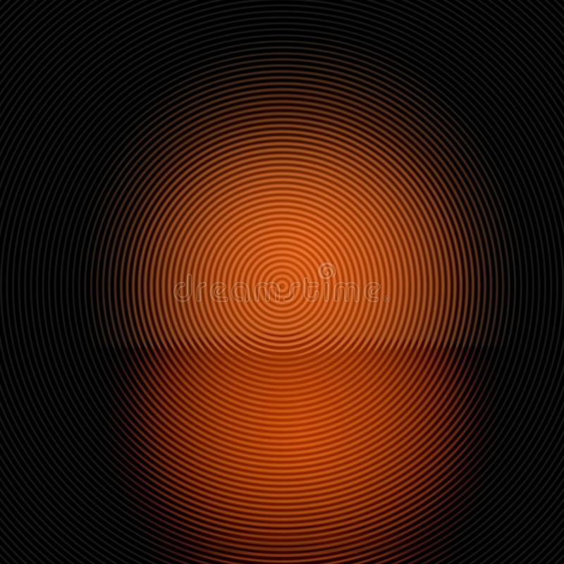 Black square and orange circles stock image