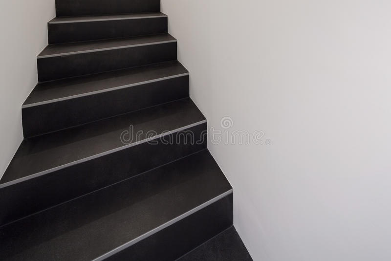 Black staircase royalty free stock image