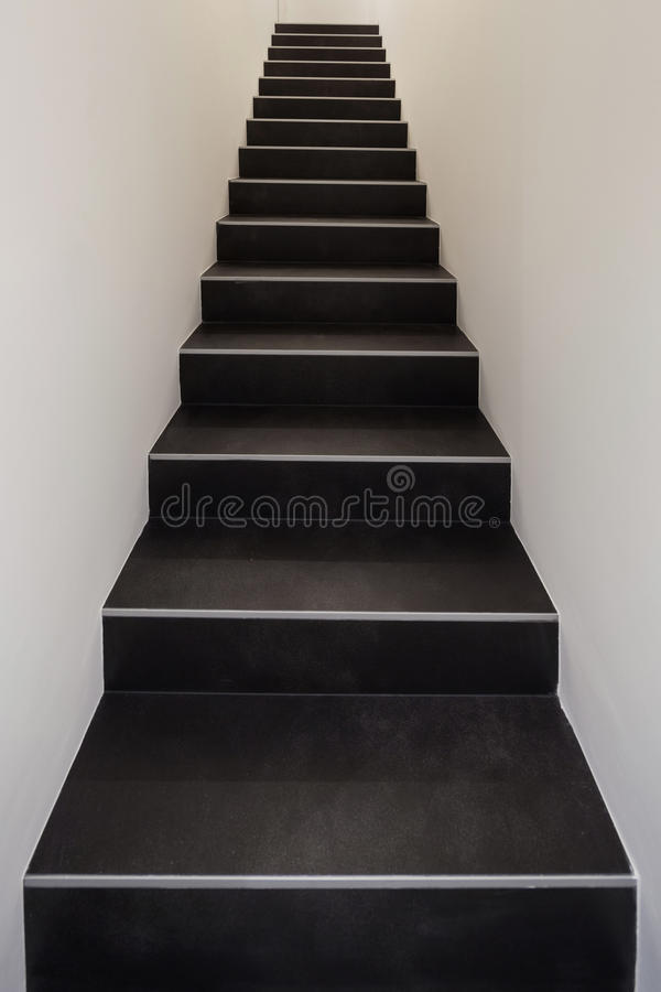 Black staircase royalty free stock photography