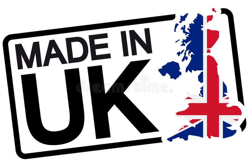 black stamp with text Made in UK royalty free illustration