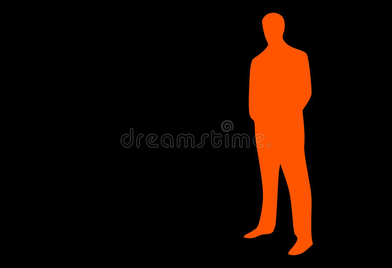 Black, Standing, Silhouette, Orange royalty free stock photo