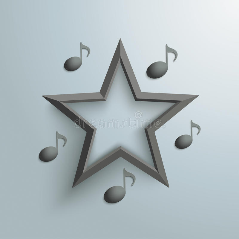 Download Black Star Music Notes stock vector. Illustration of reklame - 40512135