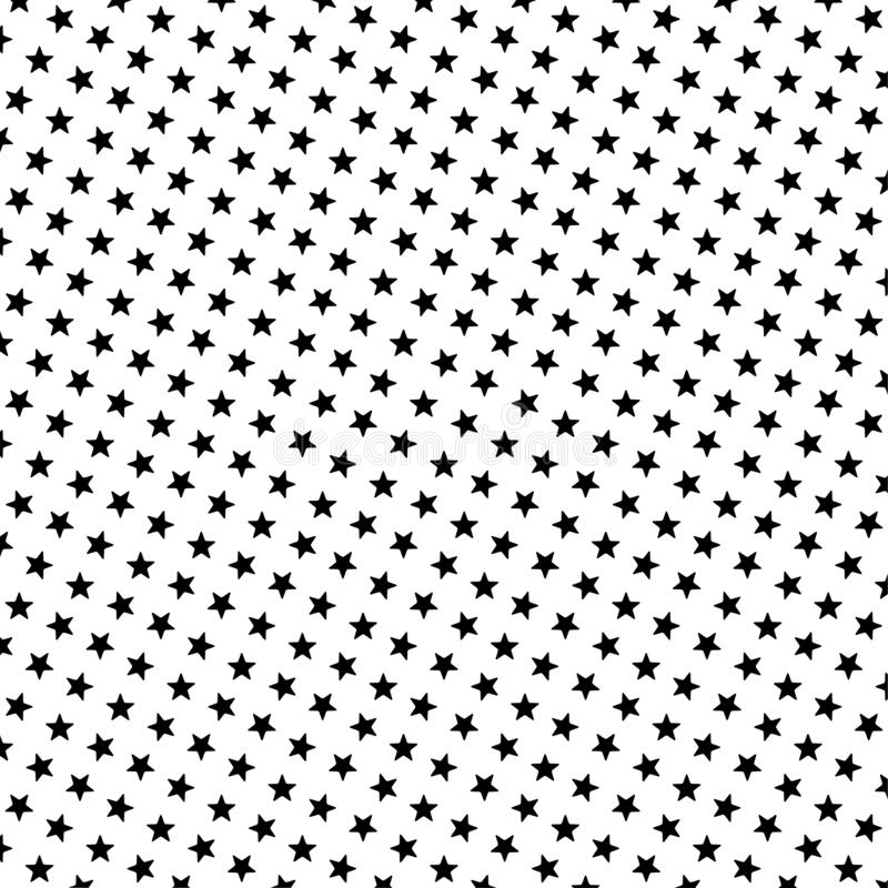 Black star pattern vector illustration stock photo