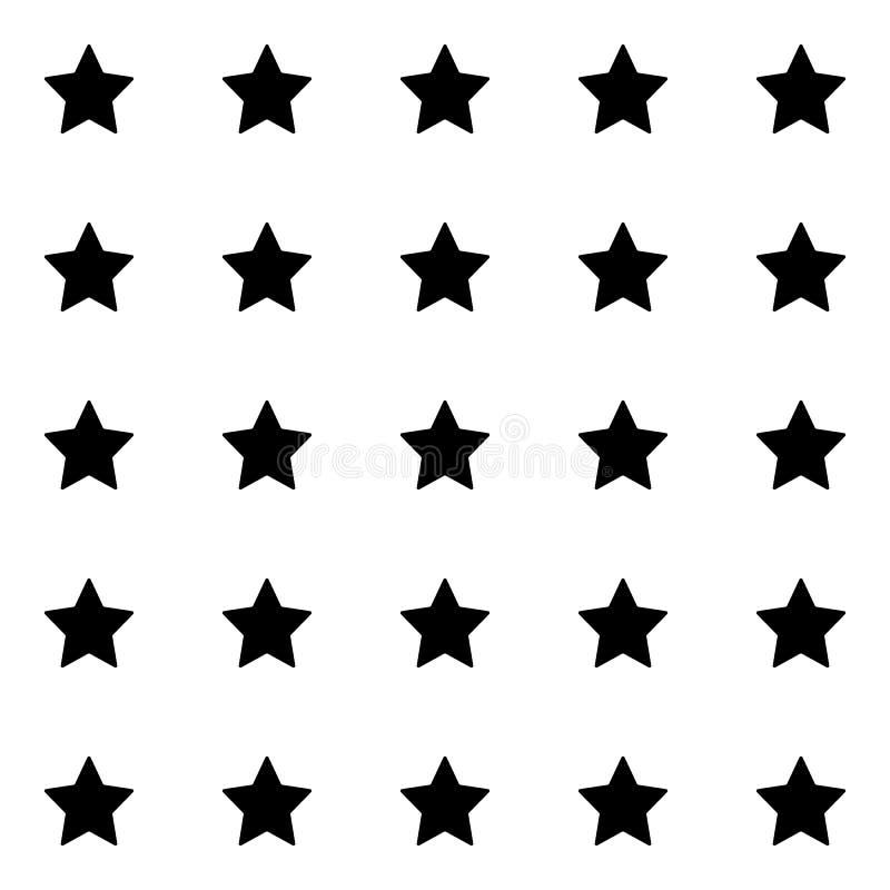Black star template seamless pattern. Cute kids star seamless pattern. Seamless patter with stars. Star background. Babies stile. Black star template seamless royalty free illustration