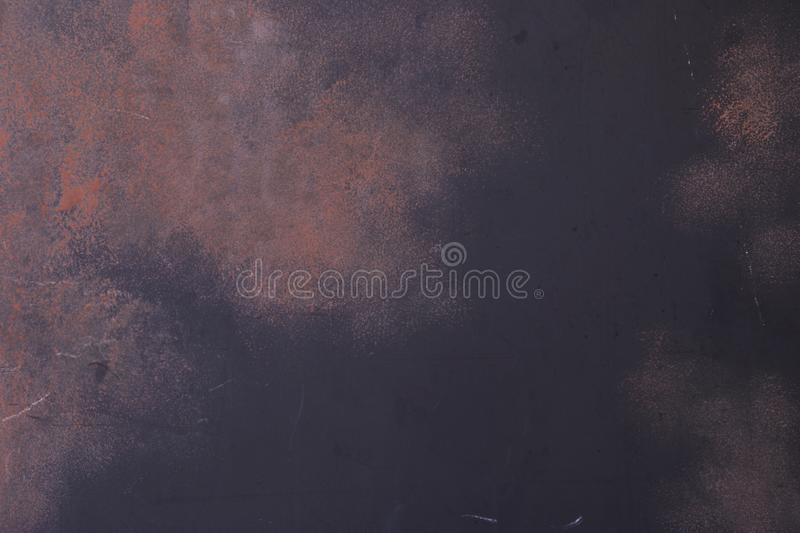 Black Steel Paint with Rustic Red Texture royalty free stock photos