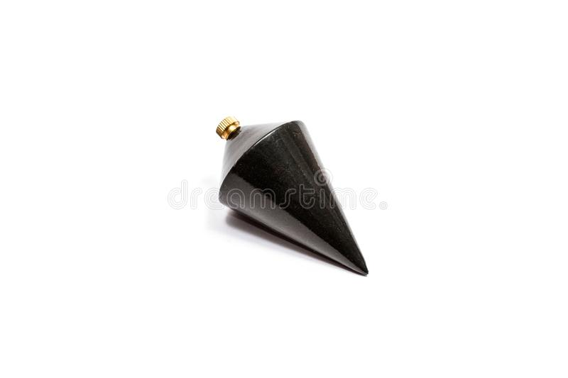 Black steel plummet cone shaped. stock images