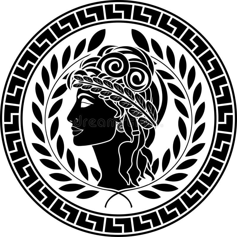 Download Black Stencil Of Patrician Women Stock Vector - Illustration: 22734220