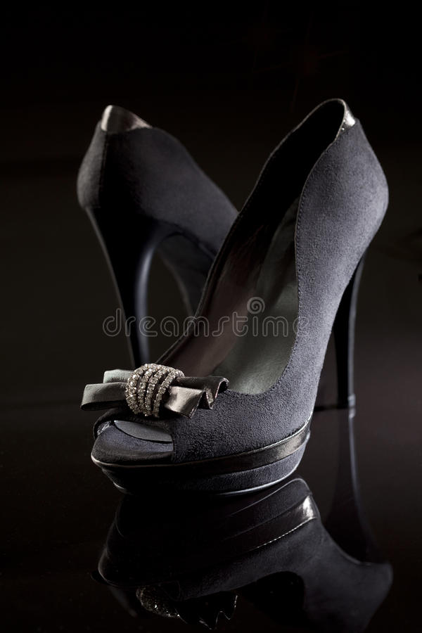 Black stiletto royalty free stock images