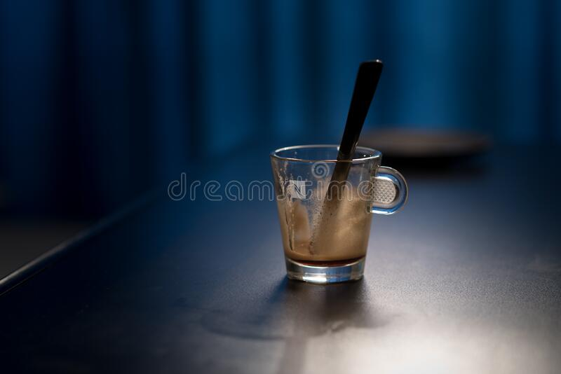 Black Stirring Rod On Clear Glass Cup Free Public Domain Cc0 Image