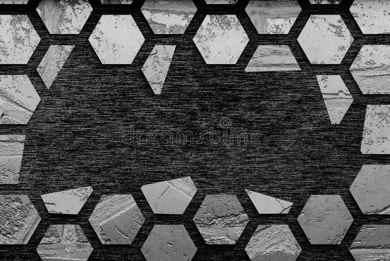 Black stone background/ 3d render. Black stone background 3d render Stone background with copy space royalty free illustration