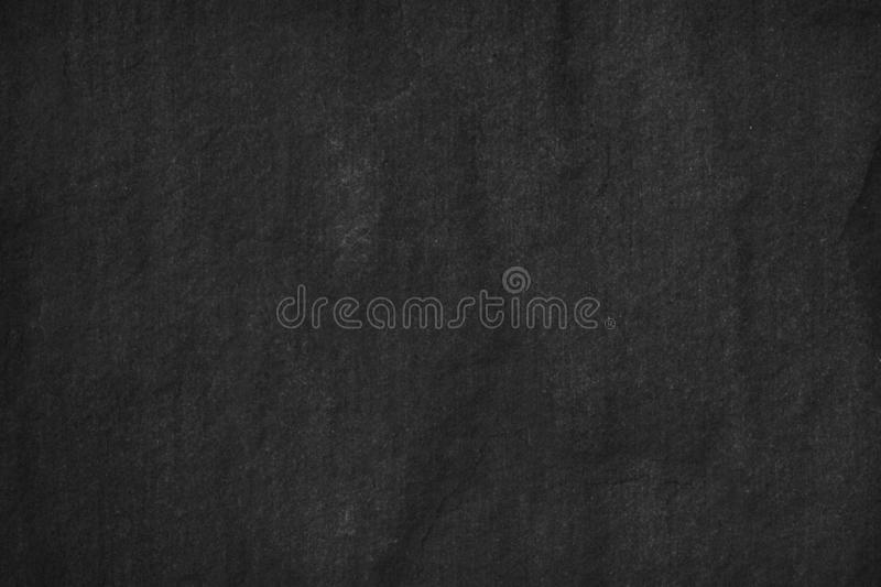 Black Stone background. Dark gray texture close up blank for design. Copy space stock photography