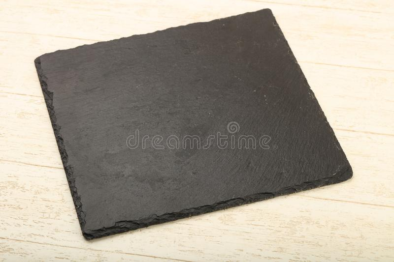 Black stone plate. For home and restorant use royalty free stock photo