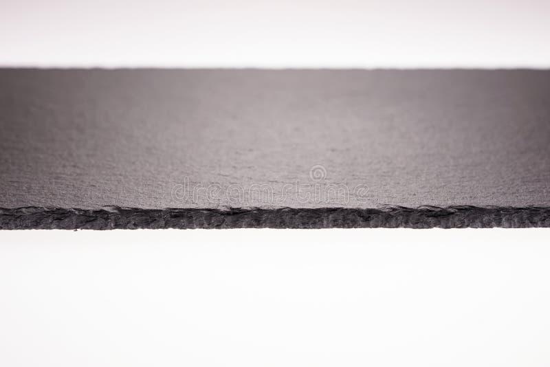 Black stone or slate background, chalkboard isolated royalty free stock image